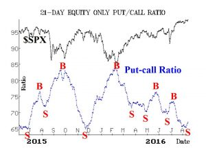 Aug 16 put call ratio